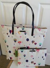NEW KATE SPADE BON SHOPPER GET CARRIED AWAY HOT AIR BALLOON LARGE TOTE + GIA