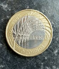 Very rare Brunel £2 coin with 2x minting errors