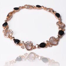 Heart Shaped Bracelets 18K Gold Plated Austrian Crystal Chain Bracelet & bangle