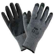 24 RUBBER COATED GREY/BLACK  BUILDERS GARDEN WORK LATEX GLOVES