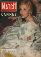 paris match n°369 michele morgan joe louis grace & rainier cannes monroe