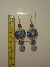 Hand Beaded Earrings Made With Real Busch Beer Cans For Pierced Ears With Backs