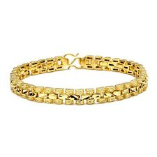 "18K Yellow Gold Filled Womens Bracelet Charms Chain 7.3"" Fashion Link Jewelry"