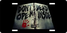 Zombie Walking Dead Bloody Hand Monster License Plate Car Truck Tag