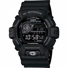 Casio Para Hombre gr-8900a-1er G-shock Negro Tough Solar Powered World Time Watch Nuevo