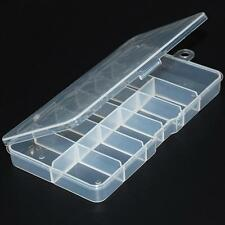Plastic Translucent False Eyelashes Lashes Storage Case - Also for Nail Tips NEW