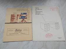 Vintage Paper Ephemera Of BAKER'S Office Furnishers Liverpool -1950's ??