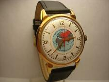 "VINTAGE RUSSIAN ""POLJOT -SPUTNIK  1McHZ  16 JEWELS MEN'S  WATCH GOLD PLATED"