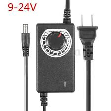 Adjustable AC/DC Adapter 9-24V 1A 24W 1.1M Power Supply Motor Speed Controller