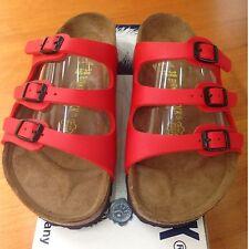 Birkenstock Florida 054741 size 36 U.S 5-5.5 R Red Birko-Flor  Sandals