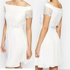 Elise Ryan 2 In 1 Lace Dress White   UK 14 US 10 EUR 42 (ca907)