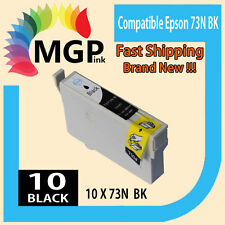 10x Black only Generic ink cartridge 73N for Epson TX100/110 TX200/210 TX400/410