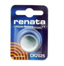 Renata Swiss Made Lithium CR2025 Cell Coin Button Battery 3V for Watch Key x 10