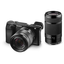 Sony a6000 Mirrorless DSLR 24.3 MP Camera Body + 16-50mm + 55-210mm Lens Kit