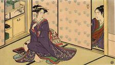 UW»Estampe japonaise courtisanes Kiyonaga H51 99 H22