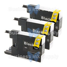 3 BLACK LC71 LC75 Compatible Ink Cartirdge for BROTHER Printer MFC-J435W LC75BK