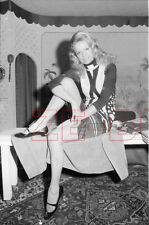 vintage NEGATIVE photo BEAUTIFUL YOUNG WOMAN GIRL SHOWS LEGS SEXY 1960s
