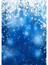 5x7FT Blue Starry Sky Glitter Stars Sparkles Photo Background Backdrop Vinyl