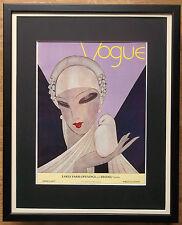 Vogue poster wall art, 20''x16'' frame, Art deco Vogue Poster, Framed Vogue