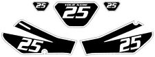 2006-2009 Yamaha TTR250 Pre-Printed Black Backgrounds White Bold Pinstripe