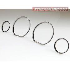 # For BMW E36 Black Chrome Cluster Dashboard Dial Gauge Rings M3