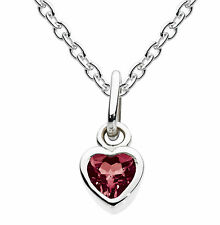 """Dew """"Simply Sterling Silver"""" Birthstone Necklace With Chain - January Garnet"""