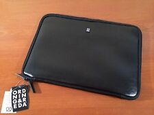 "Ordning & Reda Swedish Design ~ Leather 13"" Tablet Laptop Case Sleeve Padded NEW"