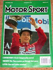 Motor Sport 12/90 - JAPANESE & AUSTRALIAN GP - LOTUS CARLTON & ELAN SE - SANREMO