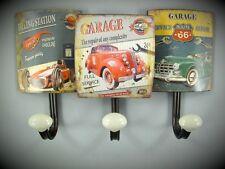 Garderobe Wandhaken Garage Werbe Schild Blechschild Route 66  Gasoline Vintage