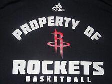 Property of Houston Rockets Basketball adidas Jersey T-Shirt Climalite Adult L