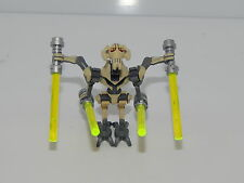Lego Minifigure Star Wars General Grievous (Clone Wars) SW254 With Light Sabers