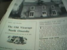 ephemera lincolnshire 1975 article the old vicarage north oswersby