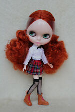 "12"" Takara Neo Blythe Dolls From Factory Nude Dolls Brown Red Curly Hair 2509L"