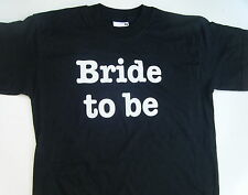 BRIDE TO BE iron on transfer 2 FOR PRICE OF ONE  -print for wedding hen party