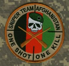 ELITE SPECIAL WARFARE PROFESSIONALS VELCRO INSIGNIA: Sniper Team Afghanistan