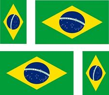 Set of 4x sticker vinyl car bumper decal outdoor car moto world flag brazil