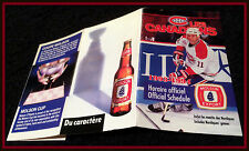 1993-94 MONTREAL CANADIANS MOLSON EXPORT HOCKEY POCKET SCHEDULE FREE SHIPPING