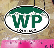 WP Winter Park Colorado Green Mountain Oval Sticker State Ski Snowboard - 5""