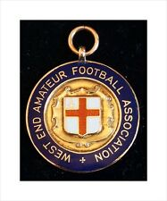 9ct Gold Medal (8gm). London West End Football Assn Sen Cup 1938. Hoover Co. FC.