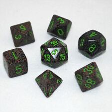 Chessex Speckled Polyhedral dice set Earth numbers 7 die set for any RPG