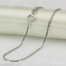 NEW 18INCH Solid 18K White Gold Necklace 1.2mm Foxtail Chain / 2.72g