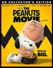 The Peanuts Movie (Blu-ray Disc, 2016, Includes Digital Copy 3D) NEW