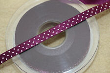 2 Metres Berisfords Satin Polka Dot Spotty Ribbon 10mm Various Colours - 2m
