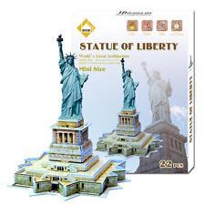 Puzzle 3D Modèle Jeux Jouet Educatif DIY Statue de la Liberté 22 Pièces