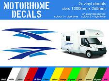 2x Vinyl Decals - Motorhome / Caravan / Camper - 2 colour stickers    [code 001]