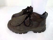 WORX by RED WINGS BROWN LEATHER META-TARSAL WORK SAFETY LACE UP BOOTS 11.5 W