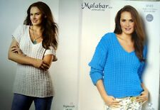 Ladies Cable Sweater and Vest in Malabar Aran,  Knitting Pattern Stylecraft 9143