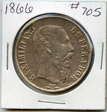 1866 Mexico Empire of Maximilian Silver 1 Peso. Lot#300