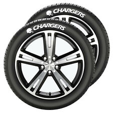 San Diego Chargers Tire Tatz 2 Pack [NEW] Decal Auto Wheel Car Rubber NFL CDG