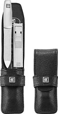Zwilling 2 PCS nail clippers Set with file+Leather case TWIN S Twinox Manicure